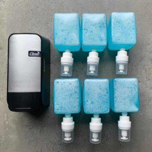 Dispenser & 6x hygiënische foam soap (12.000 doseringen)