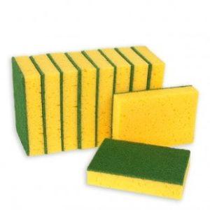Schuurspons geel/groen