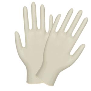 Latex handschoenen gepoederd wit